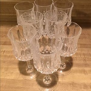 Eight Cristal D'Araques Longchamp Wine Glasses